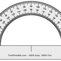 Free Printable Protractor! Give a like.