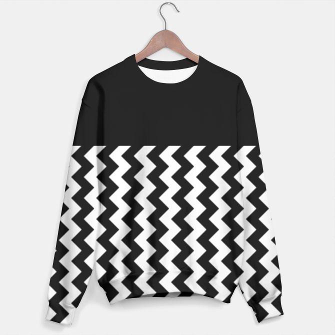 Black and White Chevron Sweater by Elena Indolfi Style #LiveHeroes