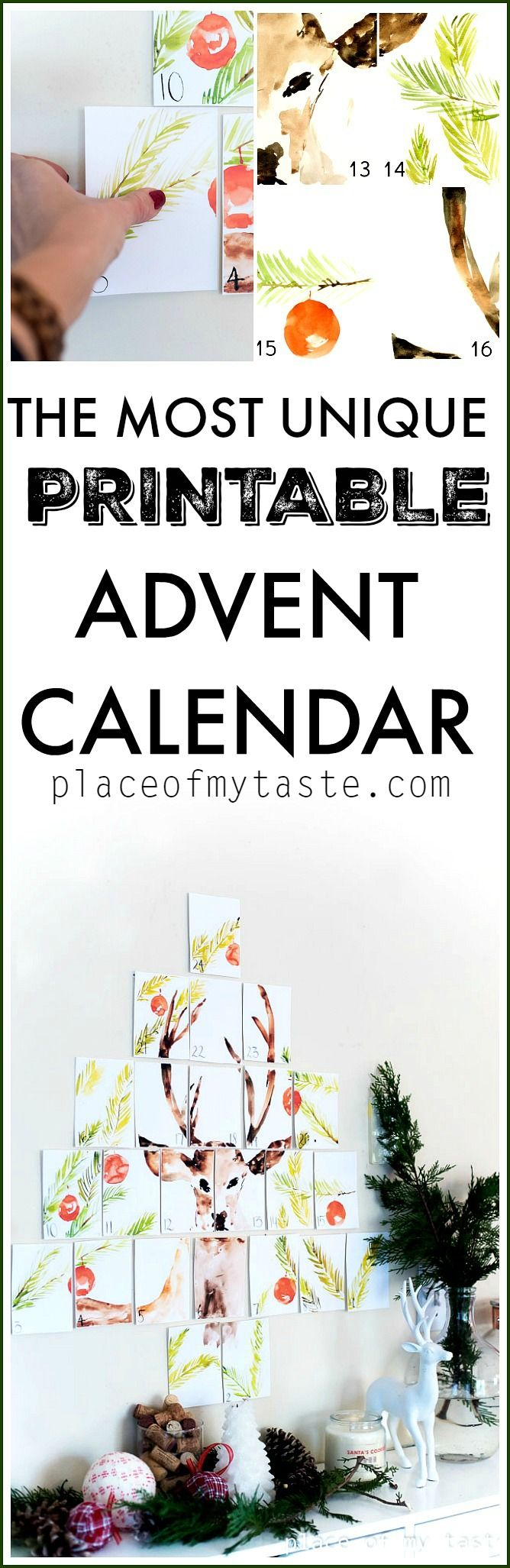 PRINTABLE ADVENT CALENDAR - Place Of My Taste