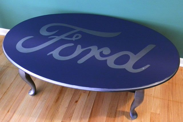 Ford-Coffee-Table by P $145: Decor, Ford Trucks, Coffee Tables, Ford Tables, Caves Things, Memorial Tables, Men Caves, Products, Ford Coffee T