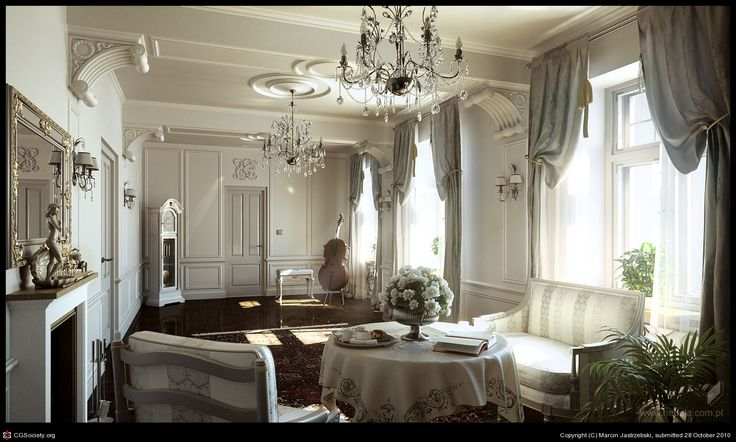 CGTalk - Classic interior + details, Marcin Jastrzebski (3D)