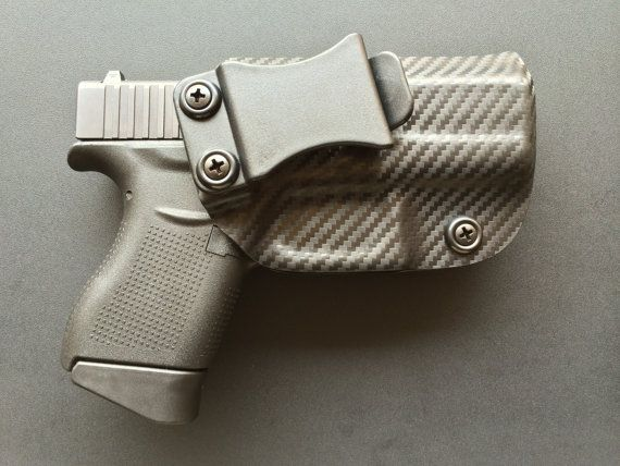 Glock 43 (9mm) Custom Holster - CARBON FIBER Black / IWB / Concealed Carry / Right Handed / G43
