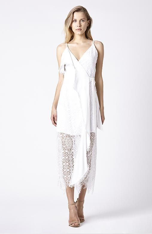 RUBY SEES ALL - Sleeping Forest Dress - White Lace