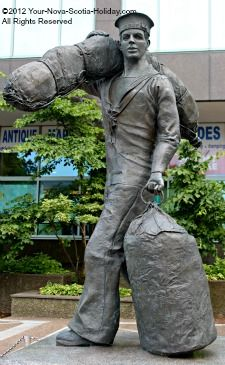 The Sailor Monument can be found along the waterfront in Halifax, Nova Scotia, Canada.  It is a wonderful tribute to the brave sailors that have served and to those who continue to serve.