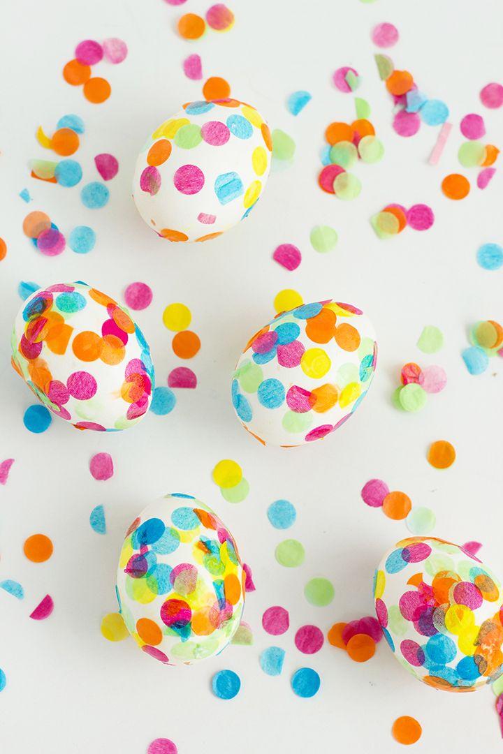 DIY Confetti Easter Eggs