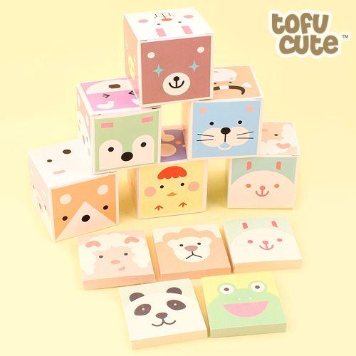 Buy Kawaii Animal Box Memo Notepad Set at Tofu Cute