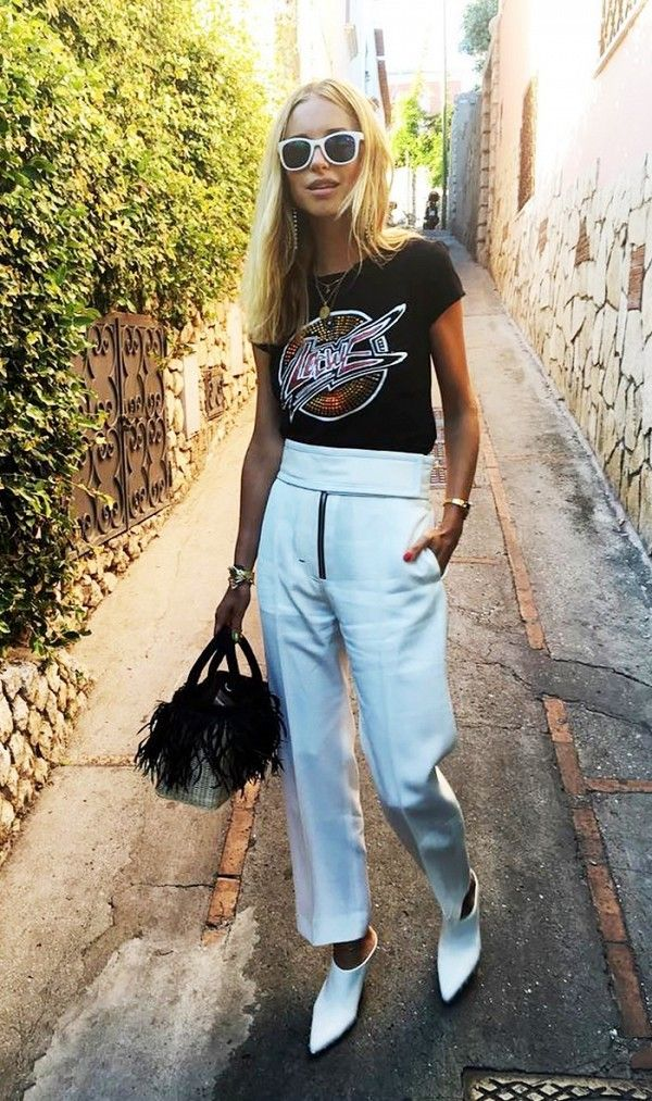 White accessories are an understated way to make your outfit pop.