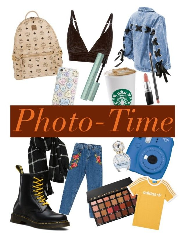 """""""Fall Photo shooting💛"""" by by-miaxx on Polyvore featuring Mode, MCM, Milkyway, New Look, Dr. Martens, Fujifilm, Sephora Collection, adidas, MAC Cosmetics und Marc Jacobs"""