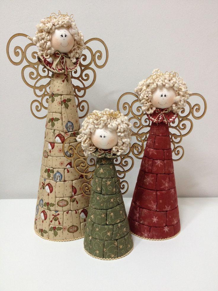 Trio de Anjos | Carmelitas de Pano | Elo7                                                                                                                                                                                 Mais