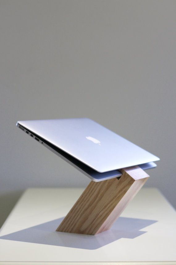 GreaterUp Oak Laptop Stand by GreaterUp on Etsy