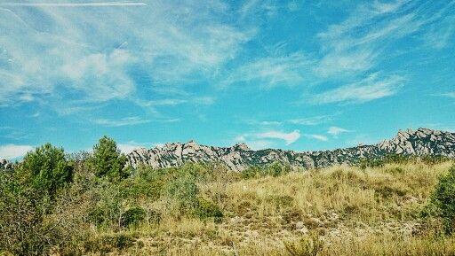 Montserrat desde la carretera de Collbató.