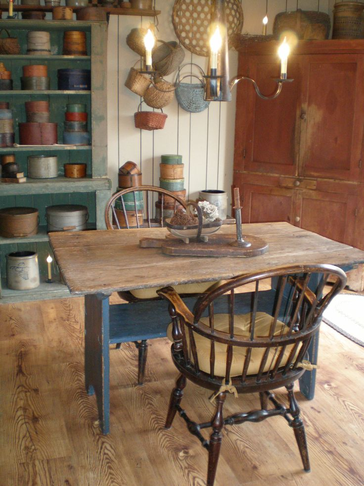 Our wonderful blue base hutch table