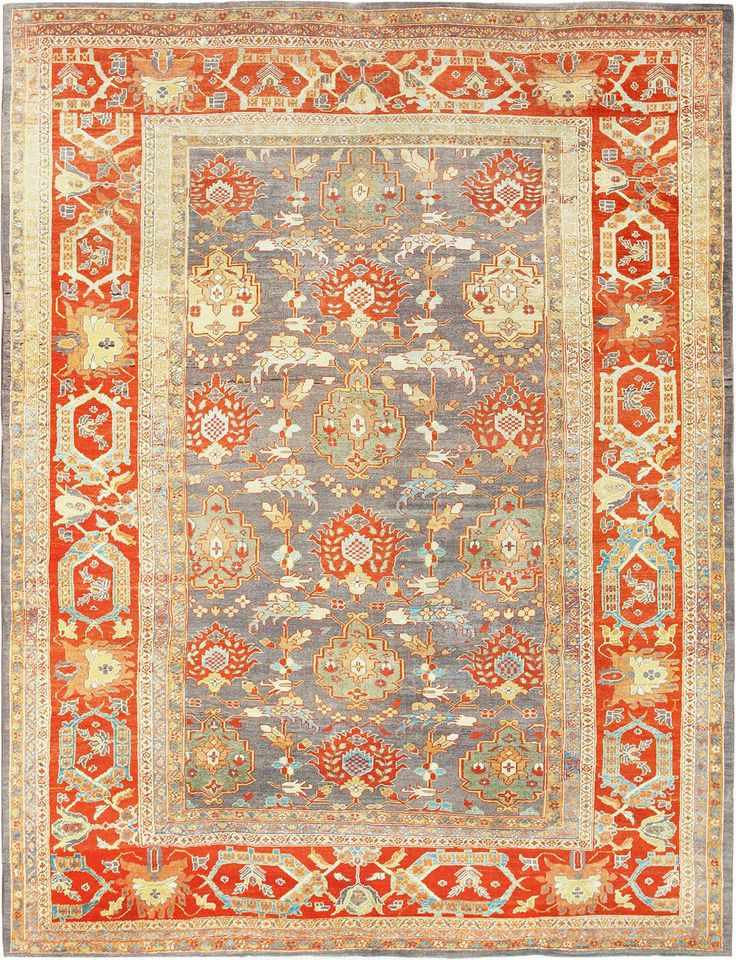 Persian Sultanabad Rug , Country of Origin / Rug Type: Persian Rugs, Circa Date: 1880 9 ft 9 in x 13 ft (2.97 m x 3.96 m)