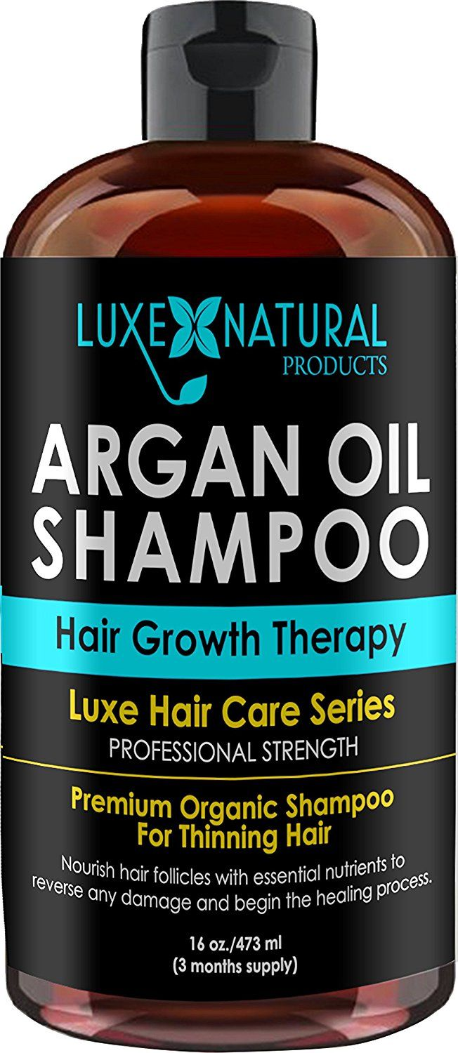 Luxe Natural Products Argan Oil Shampoo Professional Strength - Hair Growth Therapy 16 oz - Hair Loss, Regrowth, Thinning, and Aging - Infused With All Natural for Both Men and Women - 3 Months Supply >>> Check this awesome product by going to the link at the image.