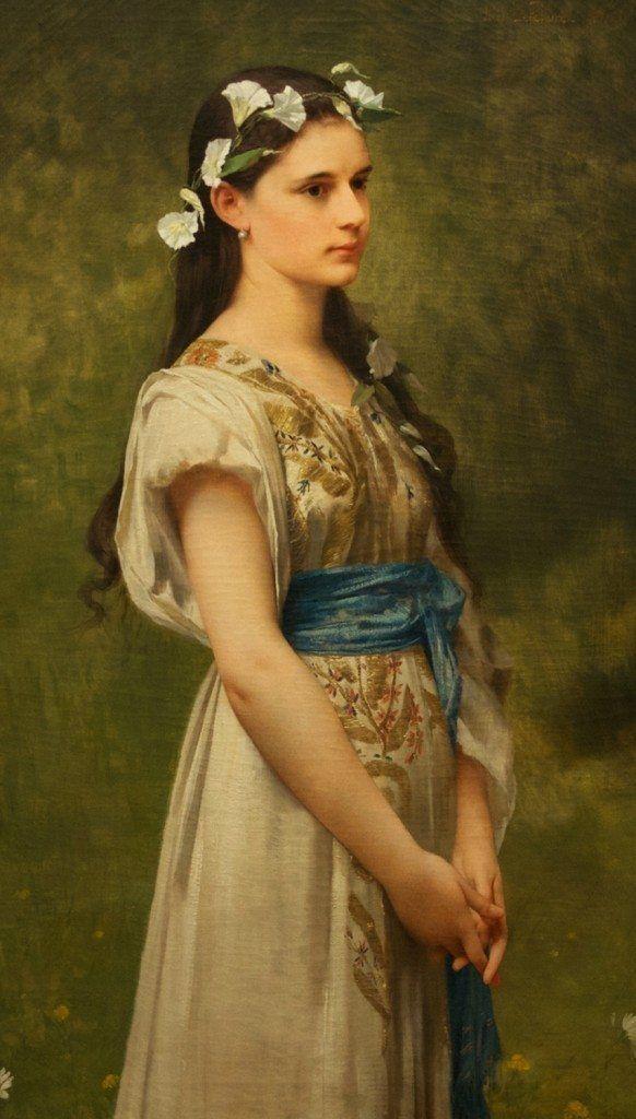 "Jules-Joseph Lefebvre (1836-1911), ""Julia Foster Ward"" - Museum of Fine Arts ~ St. Petersburg, Florida, USA"