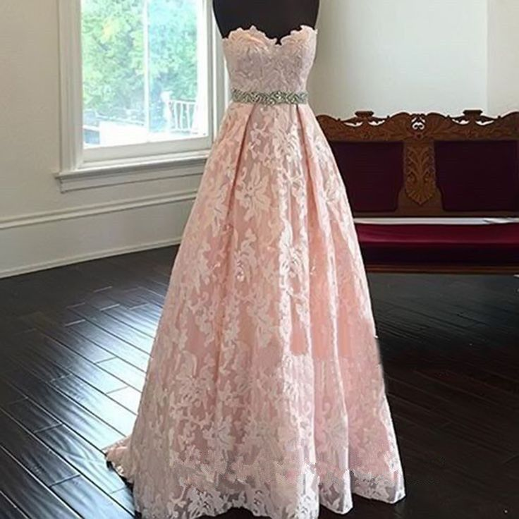 Pink Prom Dress,Sweetheart Lace Prom Dress,Fashion Prom Dress,Sexy