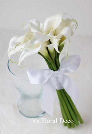 カラーのクラッチブーケ アーティフィシャルフラワーys floral deco@QEDクラブ