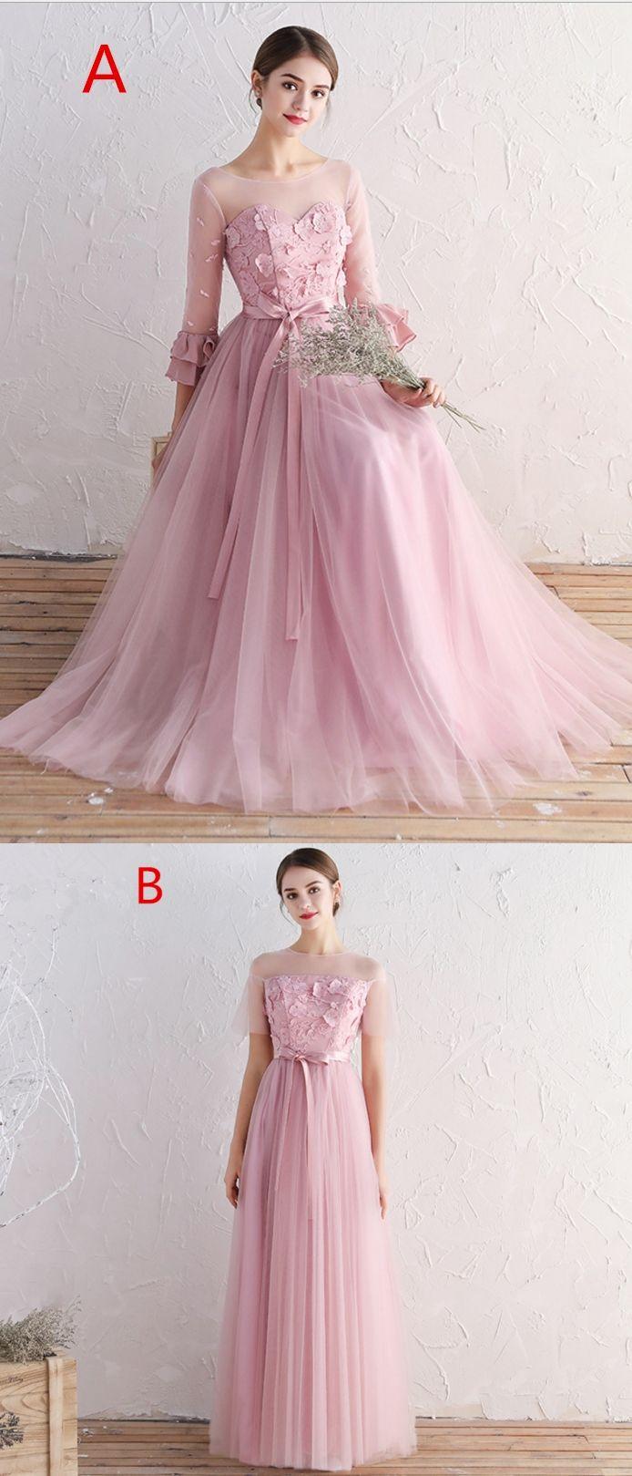 Kleid lang pink gunstig