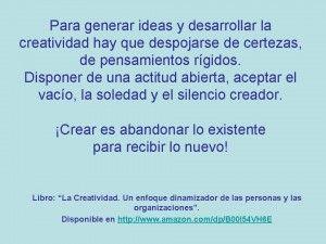 Cómo generar ideas! « Desarrollo de la Creatividad