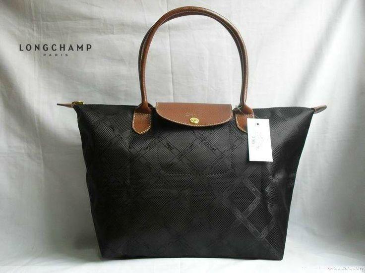 Longchamp Jacquard Black Handbag