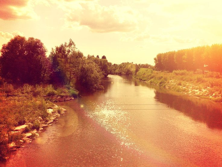 The River Marecchia at Rimini, at the start of the cylce path to the medieval town of Verucchio.