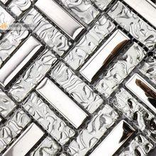 misto di vetro con acciaio inossidabile , colore grigio mosaico , piastrelle backsplash cucina , piastrelle del bagno , striscia , trasporto libero ! ! !(China (Mainland))