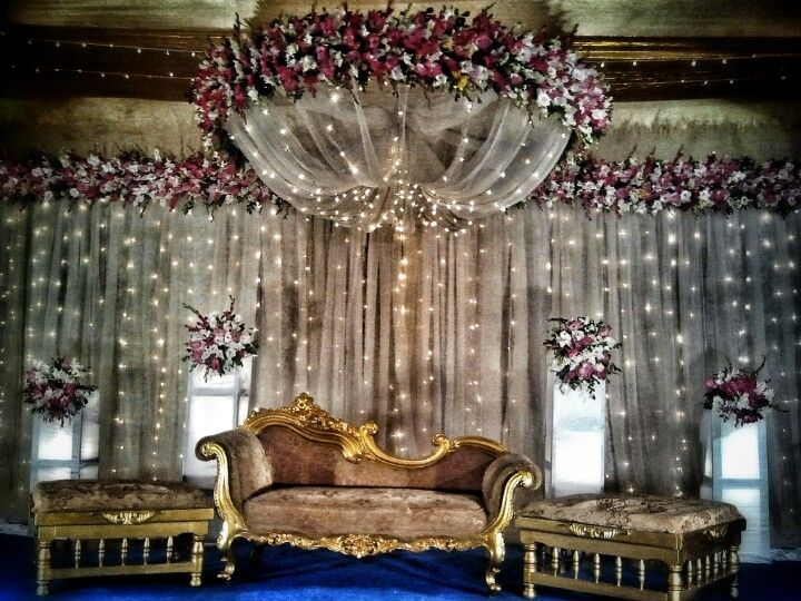 wedding stage decoration with lights