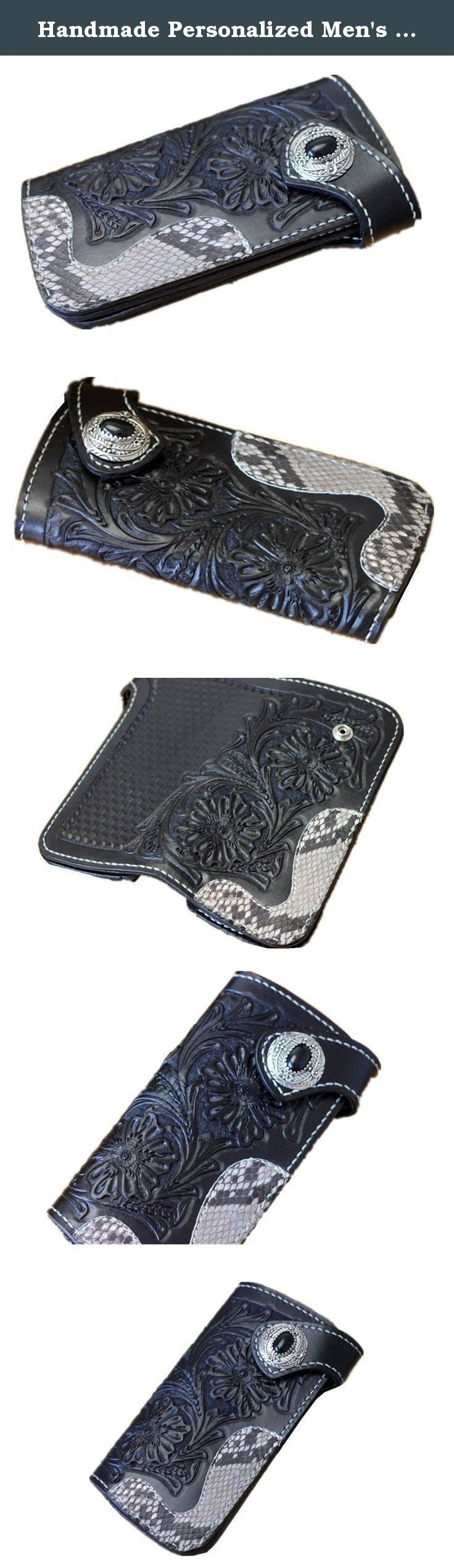 Handmade Personalized Men's Leather Wallet Vegetable Leather classics carving flower wallet purse card case Christmas Valentine's Day Gift. Handmade Personalized Men's Leather Wallet. This engraved leather wallet is the perfect men's gift. Design is elegant, composed in do not break.Delicate texture, decorative pattern, carver is exquisite.With the passage of time, it will present a belongs to the color of your personality and sense of history. It's a great gift for groomsmen, boyfriends...