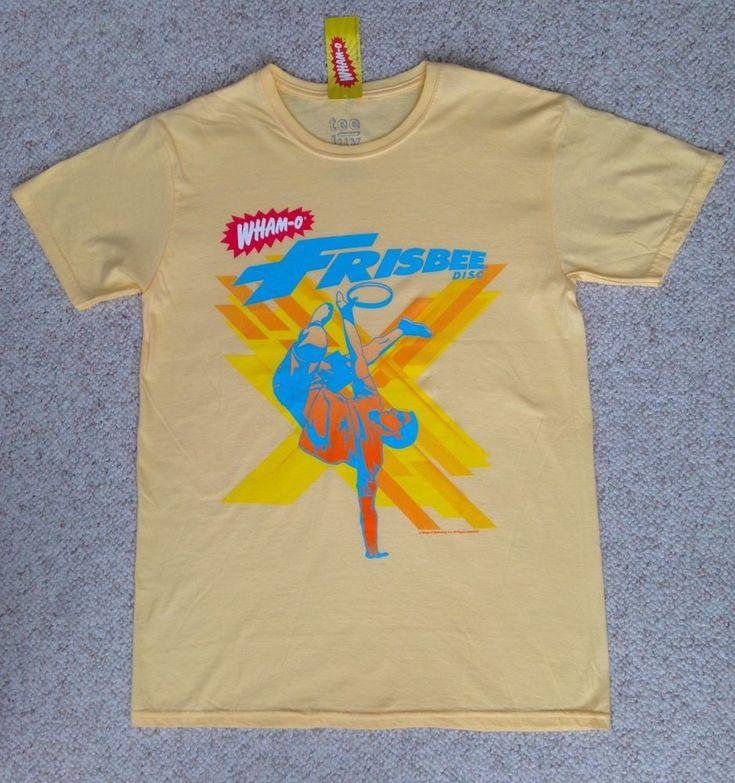 NEW Men(Med) WHAM-O FRISBEE DISC T-SHIRT Light Yellow Retro Vtg Look Advertising #TeeLuv #GraphicTee