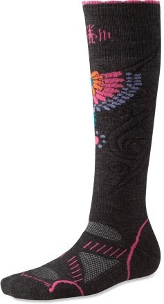 SmartWool. Best sock for cold weather sports. Keeps your feet warm and dry. (SmartWool PhD Women's Snowboard Sock)