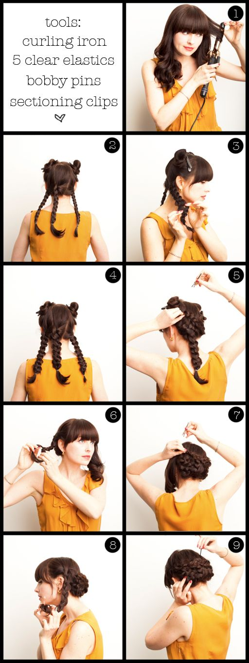 Twisted braided updo #hair #steps