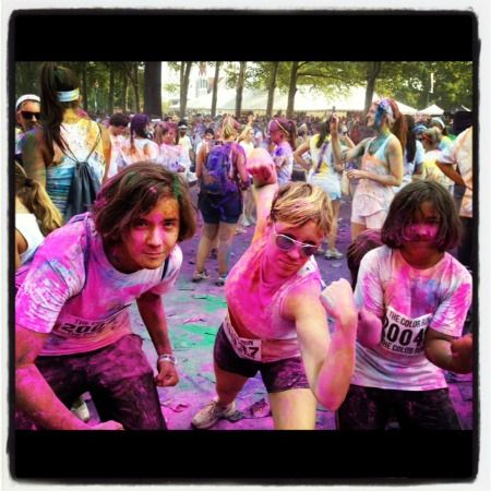 Tips for running The Color Run 5K (and recap of the Philly run). Great first 5K for kids!