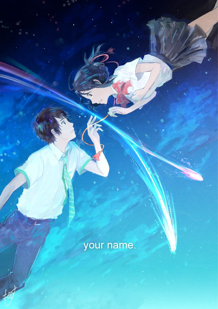 This Fanart Is So Colorful Manga Movie Your Name Kimi No Na Wa