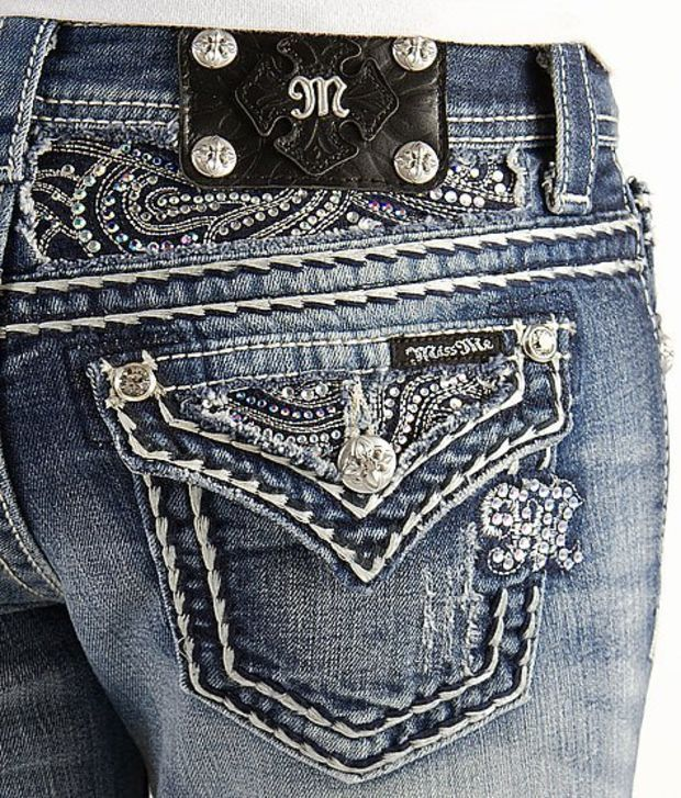 MISS ME JEANS Sale Low Rise Flap Pocket Cropped Capri Stretch Jean 29 #MissMe #CapriCropped