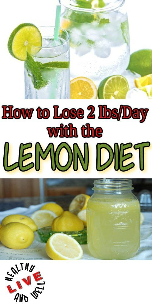 See how to lose 2lbs/day with this lemon diet.