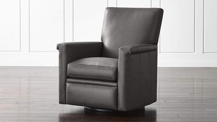 Declan Leather 360 Swivel Recliner | Crate and Barrel