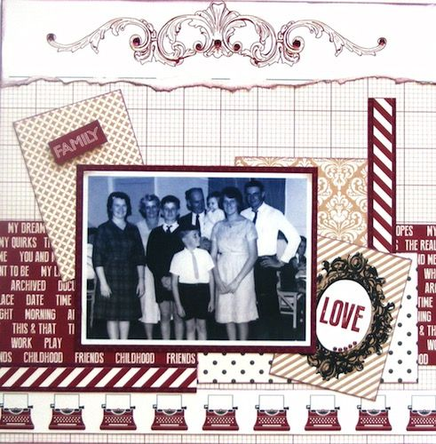 Family page created with Teresa Collins, Hello My Name Is collection by Rosemary for My Scrappin' Shop.