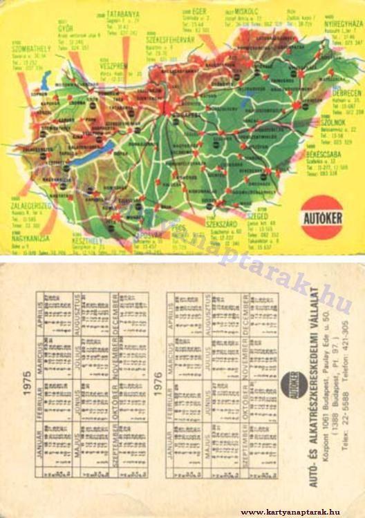 1975 - 1975_0829 - Régi magyar kártyanaptárak