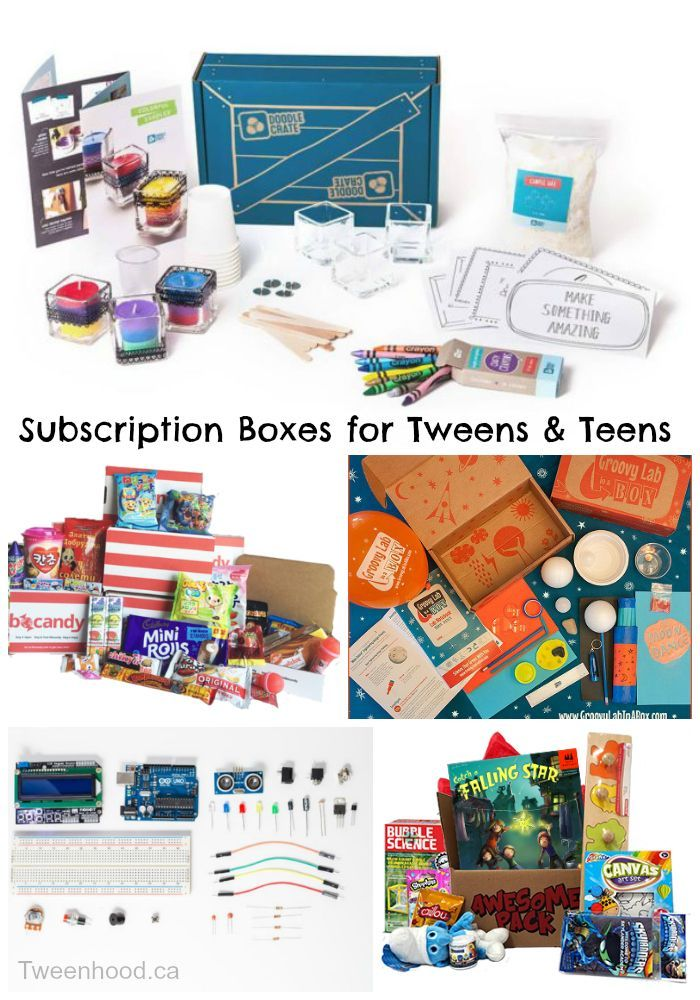 Great gift ideas for hard-to-shop-for tweens and teens! Subscription boxes for tweens and teens.