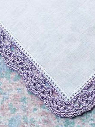 """Free pattern for """"Brides Mothers Handkerchief Edging""""!"""