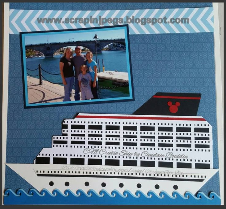 Cruise Ship made Candace Bouldin Creative Memories Border Maker System and Filmstrip Cartridge