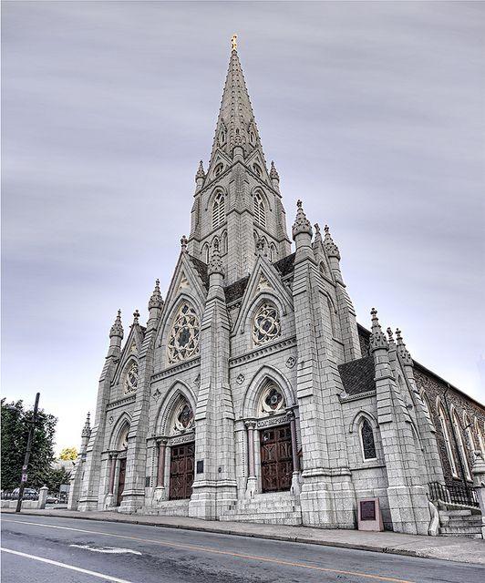St. Mary's Cathedral Basilica, downtown Halifax, Nova Scotia, Canada.