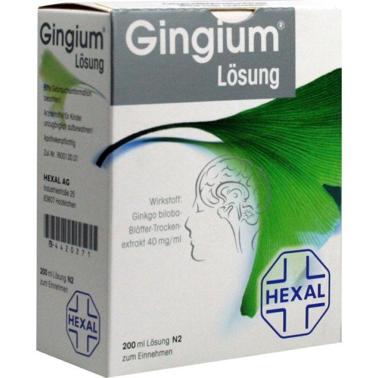 GINGIUM Lösung:   Packungsinhalt: 2X100 ml Flüssigkeit zum Einnehmen PZN: 04420271 Hersteller: Hexal AG Preis: 31,82 EUR inkl. 19 % MwSt.…