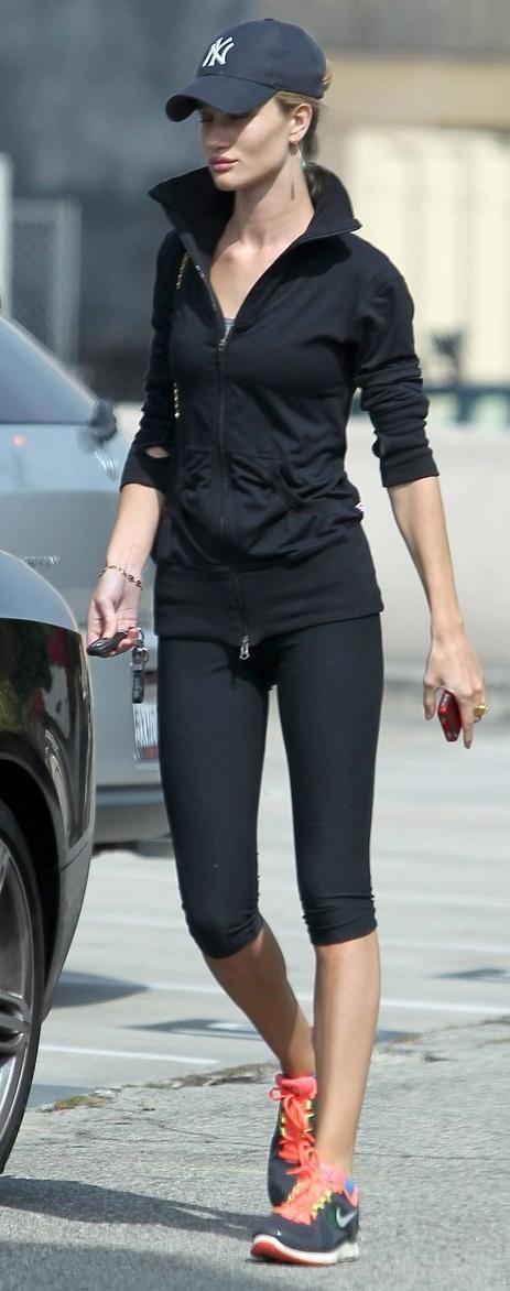 Rosie Huntington - Workout Style