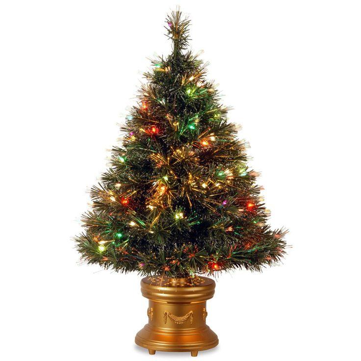 Revolving Fiber Optic Christmas Tree