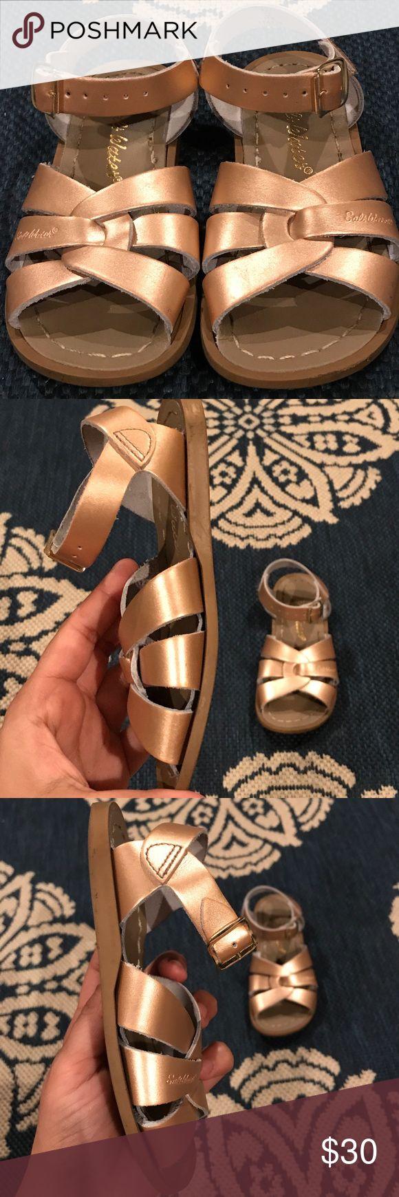 Salt Water Sandals Used- Toddler Size 10: Rose Gold Salt Water Sandals Salt Water Sandals by Hoy Shoes Sandals & Flip Flops