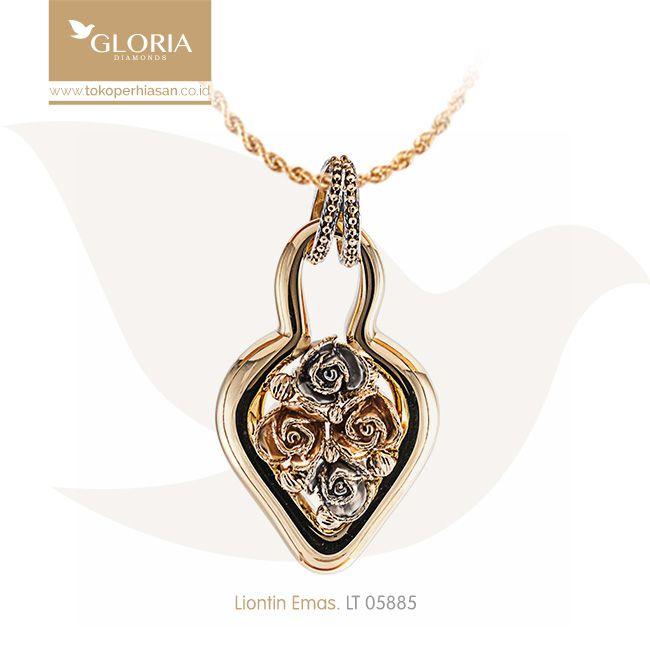 LIontin Emas Bentuk Daun Variasi Hiasan Bunga dan Cincin. #goldpendant #goldstuff #gold #goldjewelry #jewelry #pendant #perhiasanemas #liontinemas #tokoperhiasan #tokoemas