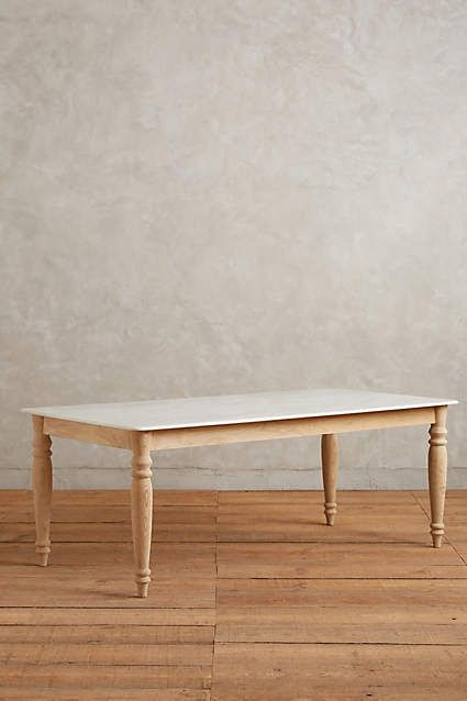 Polished Marble Dining Table, Rectangle