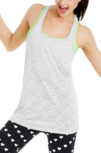 Slouchy Gym Tank | Tanks | New In | Categories | Lorna Jane chambray grey