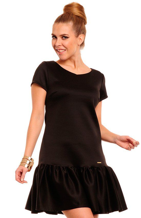 Lemoniade Sisid sukienka czarna Niezwykle kobieca sukienka doskonała na wiele okazji
